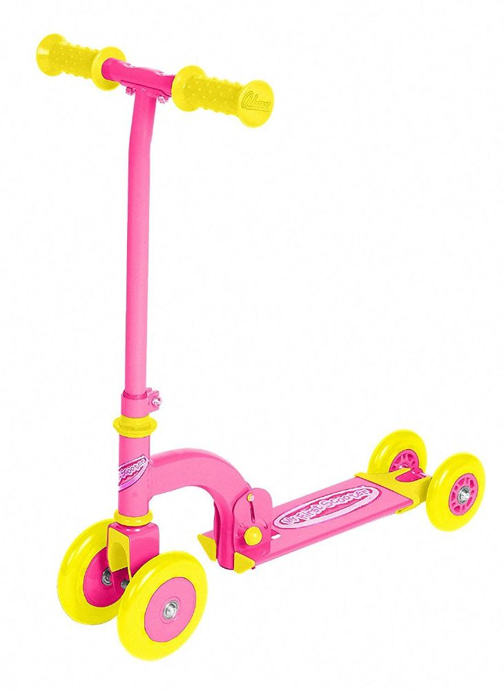 Ozbozz Kids Children Girls Pink My First Folding Push Scooter 4 Wheels